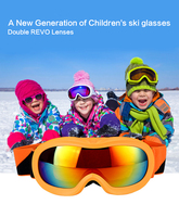 Firelion New Generation Of Children Ski Glasses Polarized Really Double Coated Lenses Kids Goggles Four Colors Child Models