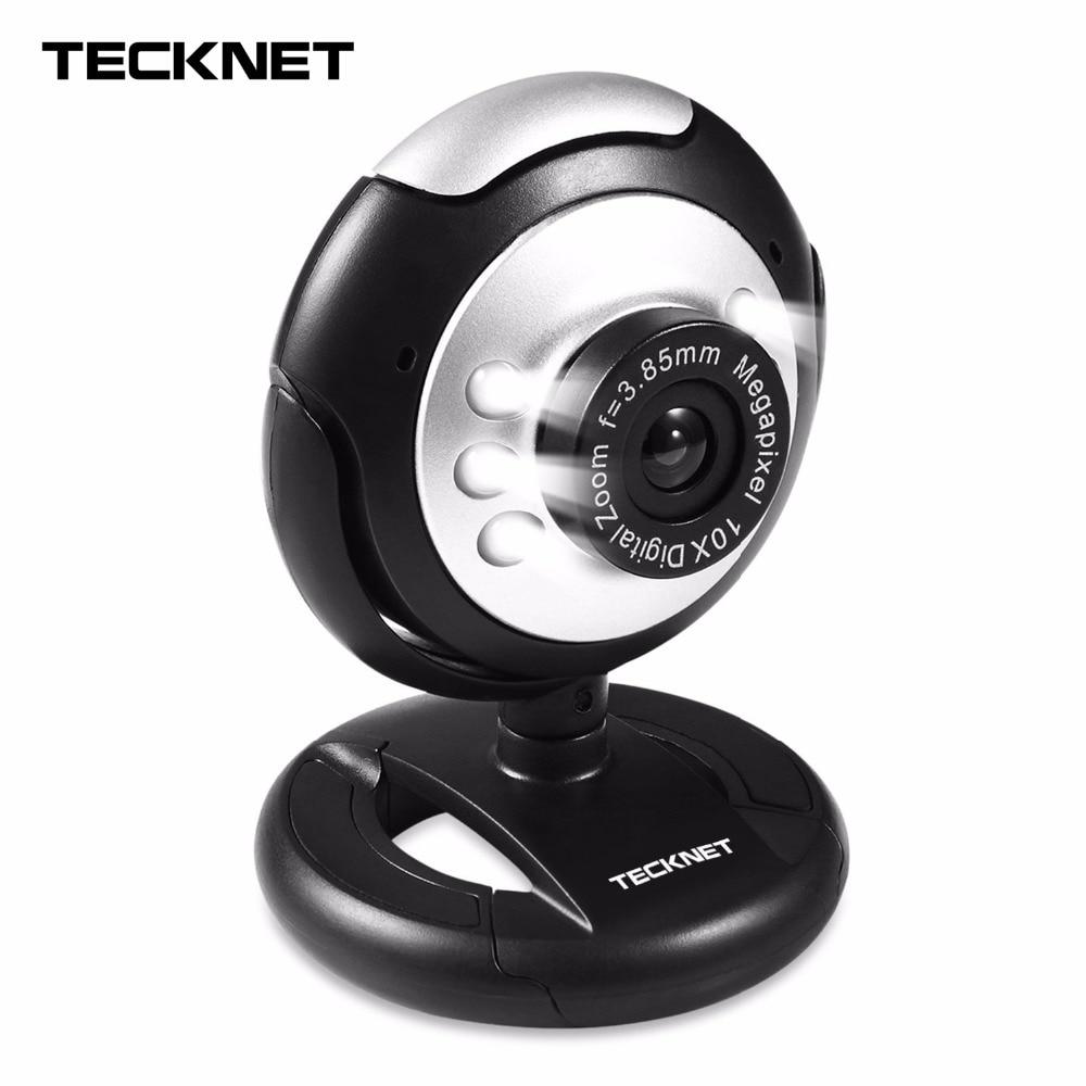 TeckNet C016 USB HD 720 p Webcam, 5 MegaPixel, 5g Lente, USB Microfono e 6 LED