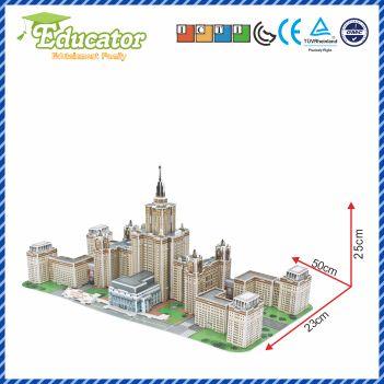 Ny modell 3D-utbildare pussel Buliding modell Lomonosov Moscow State - Spel och pussel - Foto 3