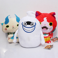 3 Pcs Set 26cm 250g Yokai Watch Series Jibanyan Komasan And Whisper Plush Doll Toys RTJK