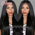 "7A Brazilian Virgin Hair Lace Front Wig For Black Women 8""-30"" Brazilian Straight Hair Lace Front Human Hair Wigs With Baby Hair"