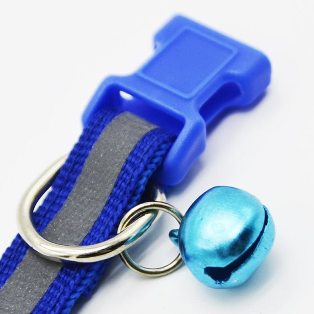1.0cm/1.5cm Width Small Dogs Cat Collar Puppy Nylon Reflective Pet Dog Collar Necklace with Bell For Dog Supplies LH8s