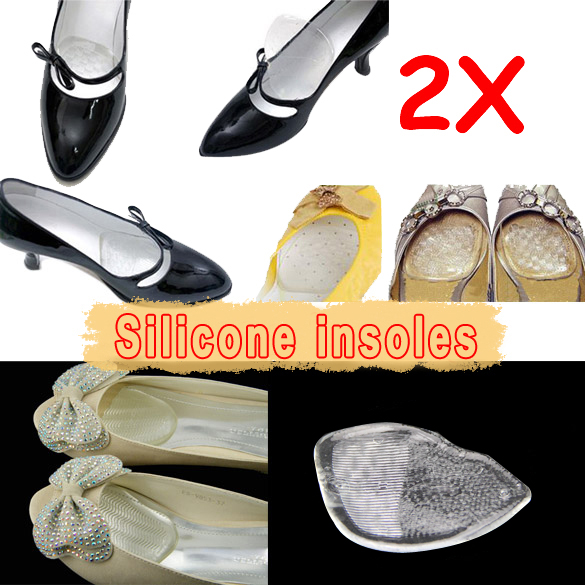 Silicone Gel Elastic Cushion Insoles Protect Comfy Feet Palm Care Shoe Pad Pads  LXX9 new arrivals women sandals fashion high quality high heel ankle open toe sexy double buckle thin heel wedding shoes big size 10