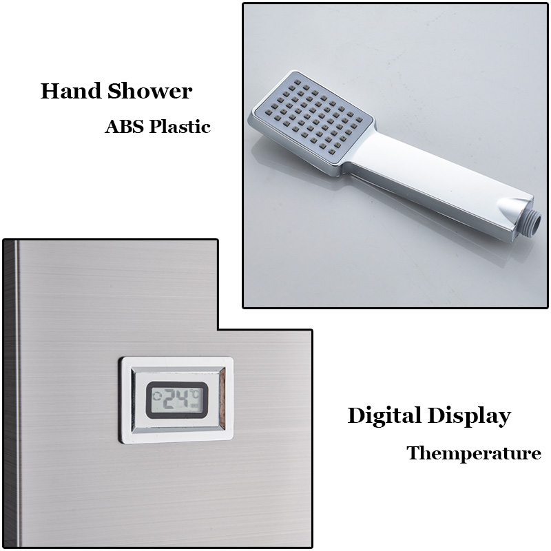 Back To Search Resultshome Improvement Senior Hotel Thermostatic Shower Column Wall Mounted Rain Waterfall Shower Panel Mixers Rotate Body Massage Jets Shower System Shower Faucets