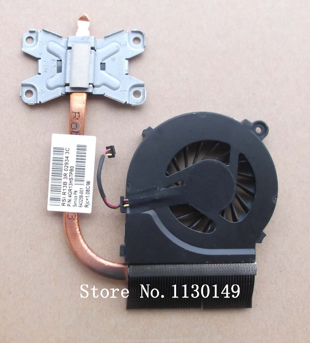 643258-001 641140-001 4GR13HSTP80 radiator for HP pavilion G4 G6 G7 G4-1000 G6-1000 LAPTOP cooling heatsink fan