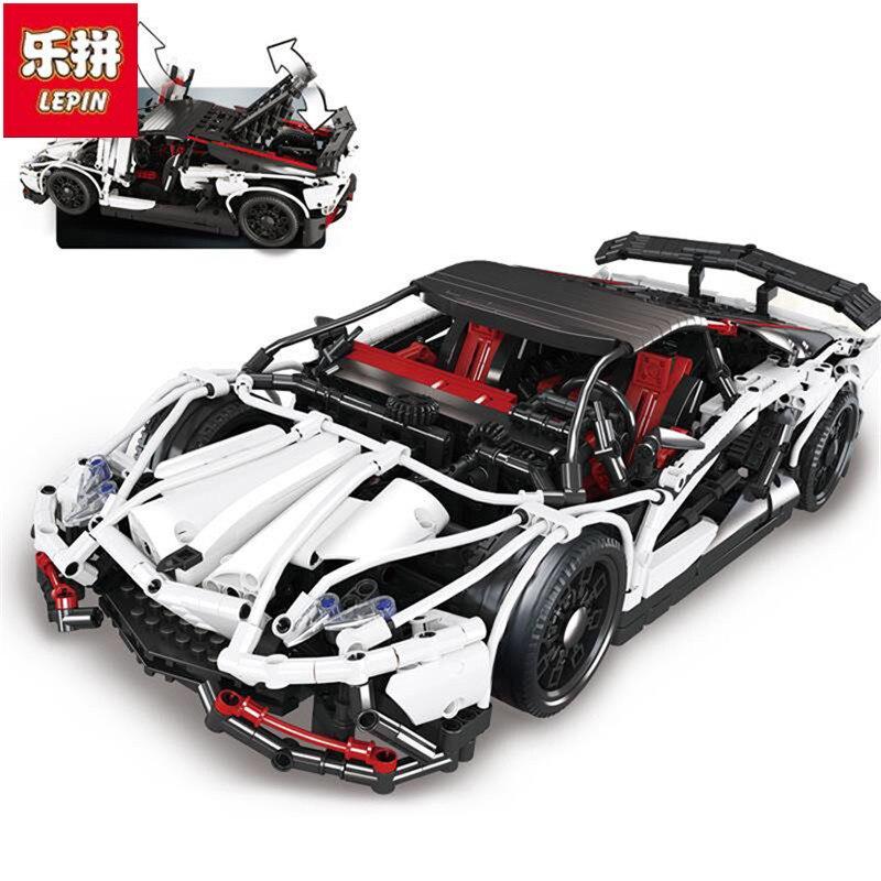 In Stock DHL Lepin Sets 23006 2838Pcs Technic MOC Hatchback R Super Racing Car Model Building Kits Blocks Bricks Educational Toy in stock dhl lepin sets 37003 1959pcs