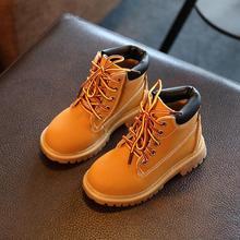 Gaotong/ г. Зимние теплые детские модные ботинки детские ботинки на шнуровке для мальчиков и девочек водонепроницаемые модные ботинки