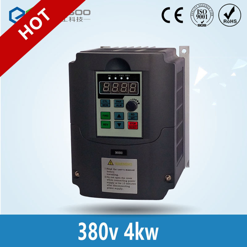 380v 4kw VFD Variable Frequency Drive VFD Inverter 3HP Input 3HP Output Frequency inverter spindle motor speed control ce 380v 4kw new ac motor drive varibale speed drives frequency inverter vfd