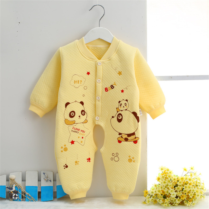 0-9 month Cotton Baby Rompers Wear Jumpsuits Kids panda baby boy clothes newborn infant baby girl costumes clothing SKA04 (4)