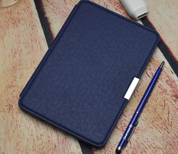 PU leather cover case for Amazon kindle paperwhite 1 and 2