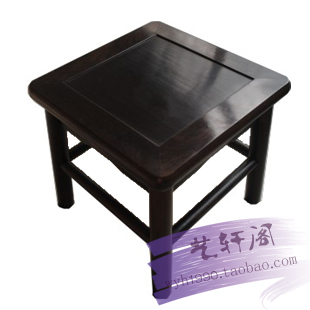 Ebony ebony rosewood stool Shoes Black rosewood wood small square stool  children furniture special offer