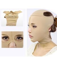 Маска для похудения лица тонкая Массажная маска для лица лайкра ткань бандаж двойной уход за подбородком здоровье
