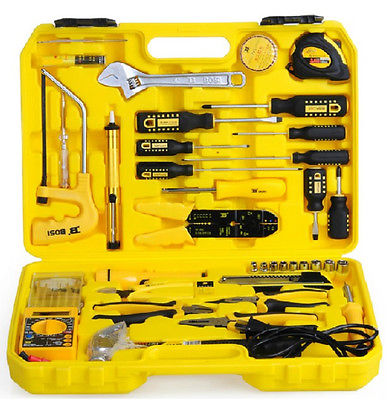 Profession 6150 CR-V Steel Forged Tools 43PCS Tele-Communication Tool Set dissembling tools 6 strengthened durable cr v steel 2 jaw gear pullers