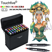 TOUCHFIVE 80 Colors Drawing Marker Graphic Animation Manga Sketch Touchfive Markers Alcohol Based Artist Set Marker