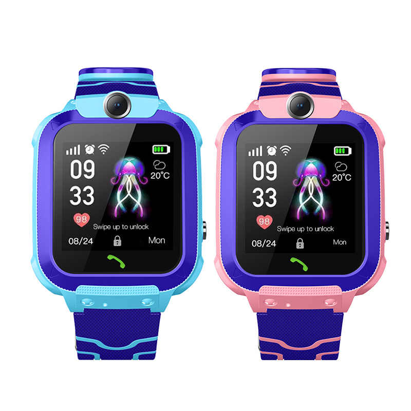 Q12 Wasserdicht Smart Watch LBS Kind Baby Uhr Kind SOS Anruf Location Finder Locator Tracker Tief Wasserdicht kinder Uhr