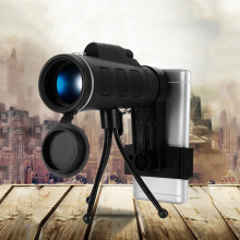 camping 40X60 Monocular BAK4 Telescope HD Vision Prism Scope With Compass Phone Clip Tripod for Outdoor Activities