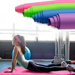 10mm Extended NBR Yoga Mat Widened Yoga with Position Line Non Slip Carpet Mat For Beginner Environmental Fitness Gymnastics Mat