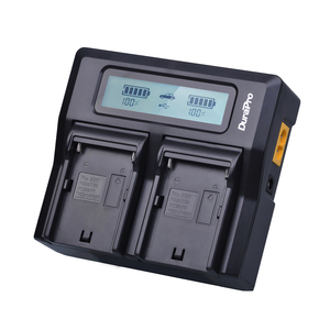 Image 4 - 4x 7200mAh NP F970 NP F970 Power Display Battery + Ultra Fast 3X faster LCD Dual Charger for SONY F930 F950 F770 F570 CCD RV100