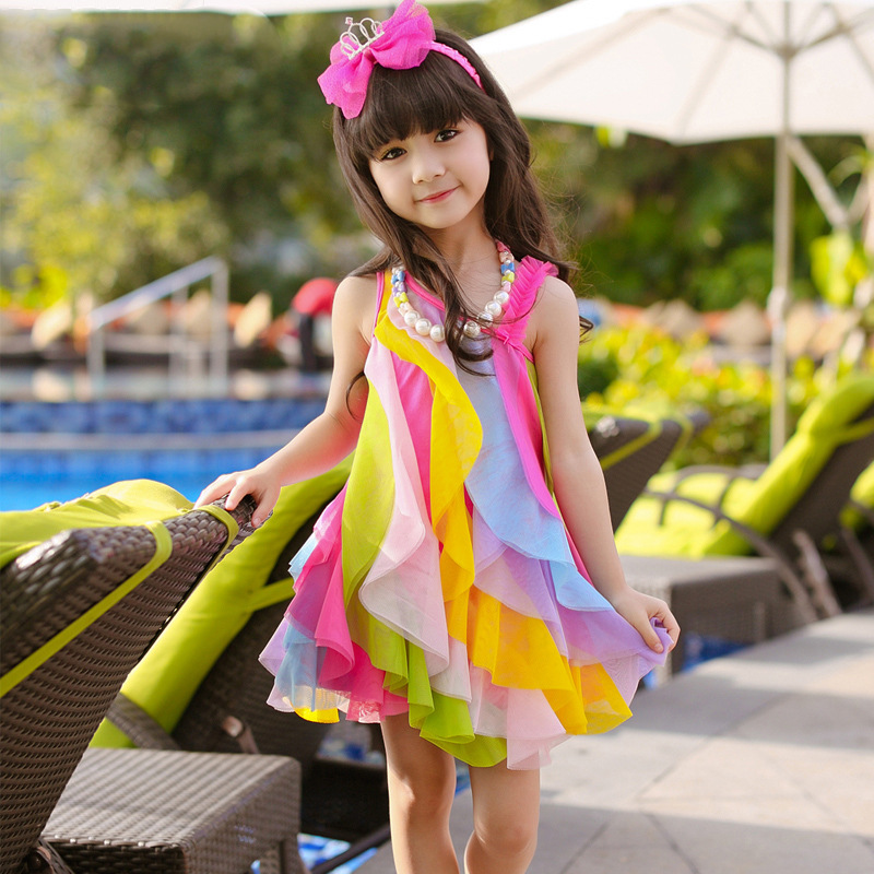 591dac5ae8e3 New baby girls dress summer style sleeveless fancy dress for girls party  beach dress baby kids fashion clothes children dress-in Dresses from Mother  & Kids ...