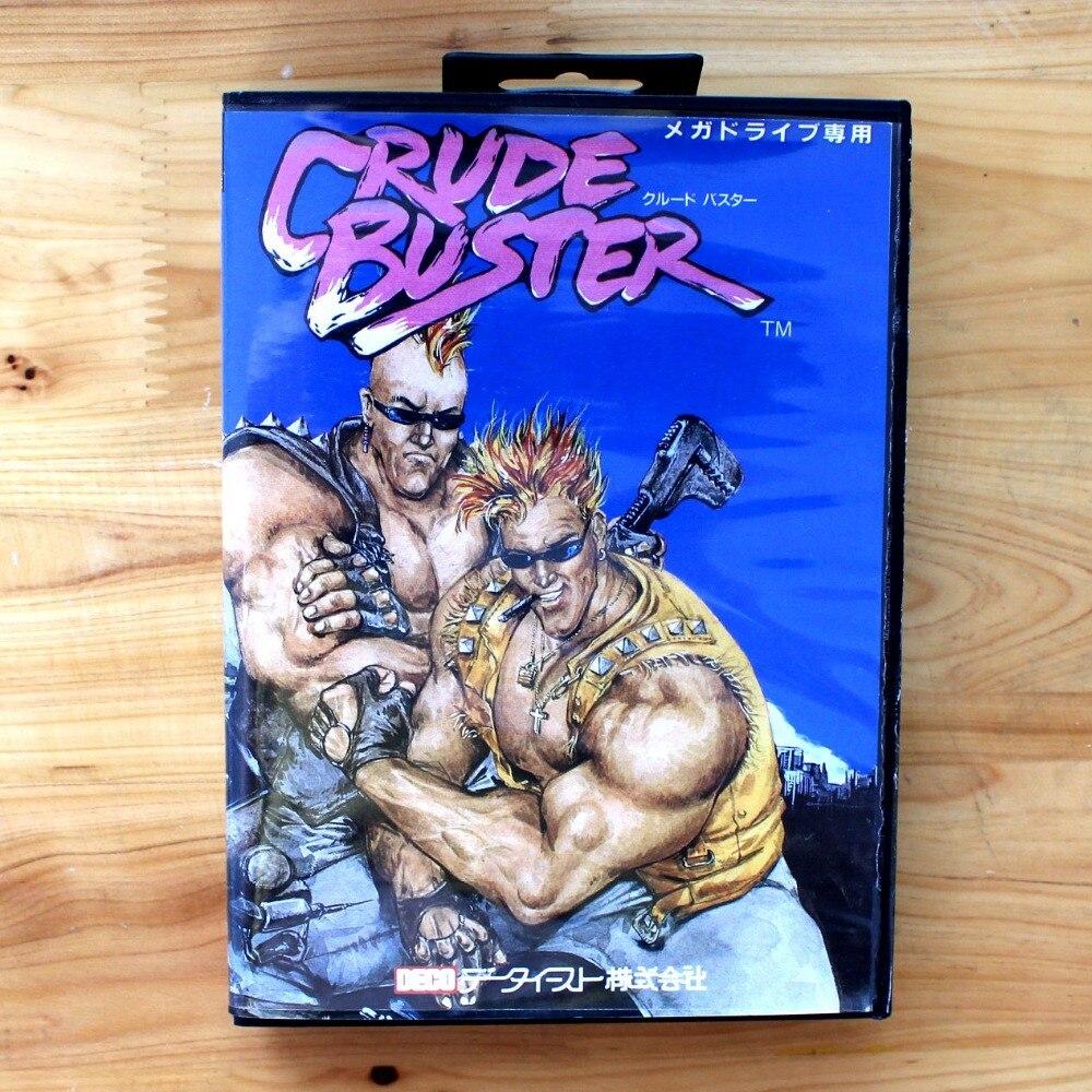 Crude Buster 16 Bit SEGA MD Game Card With Retail Box For Sega Mega Drive For Genesis