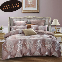 Alanna rainha jogo de cama consolador luminoso euro pastel folhas folha cama king size dupla colcha capa conjunto