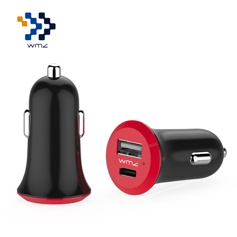 Wimazon Type C USB 3.1 dual ports car charger with and charging for Apple new MacBook(2015), other Device