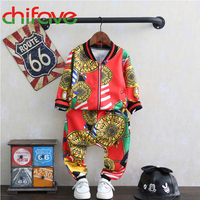 Chifave New Autumn Spring Boys Clothes Sets Fashion Children Clothing Kids Boys Long Sleeve Zipper Casual