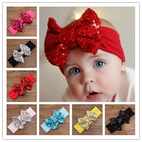 kids girls turbante elastic hair sequin bows turban headband head wraps bands headbands band for hair accessories headwrap 2015 metting joura vintage bohemian ethnic solid satin fabric cross turban elastic headband hair accessories