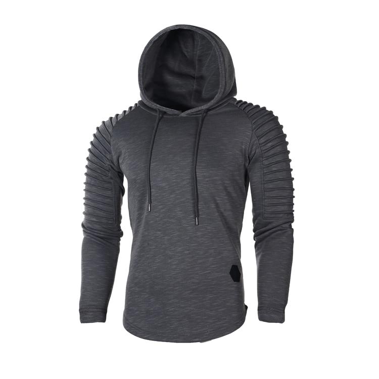 DIMUSI Brand Fashion Mens Hoodies Men Solid Color Hooded Slim Sweatshirt Mens Hoodie Hip Hop Hoodies Sportswear Tracksuit,TA301 2