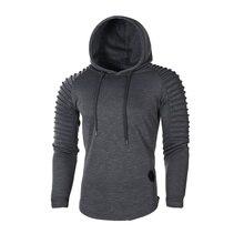 Men Solid Color Slim Sweatshirt Sportswear Hoodie SF