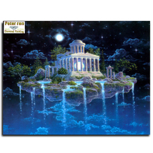 Peter ren Diamond painting Cross stitch Crafts full Embroidery Lemuria 3d square icons mosaic picture Castle in the Sky