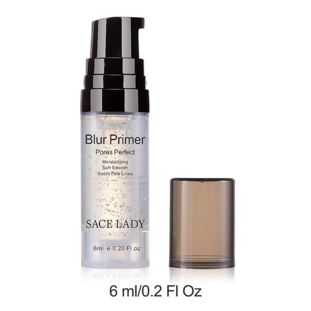 SACE LADY Blur Primer Makeup Base 6ml Face 24k Gold Elixir Oil Control Professional Matte Make Up Pores Brand Foundation Primer
