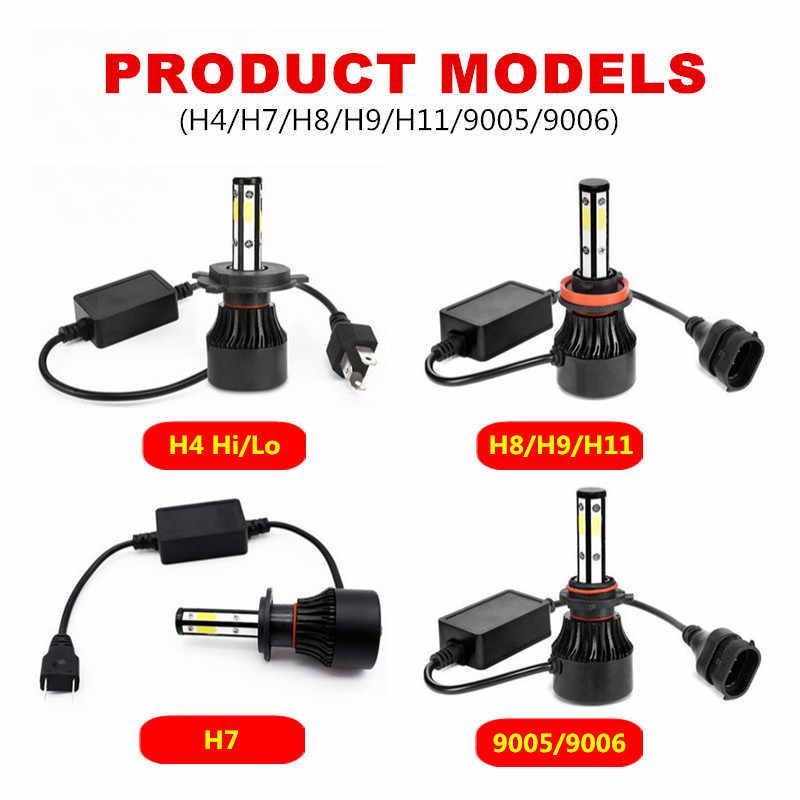 With 5 Sides Chips H7 LED Headlight Bulbs Canbus H11 H4 9005 9006 H8 H9 18000LM 6000K Car Led Auto Headlamp Headlights Fog Light