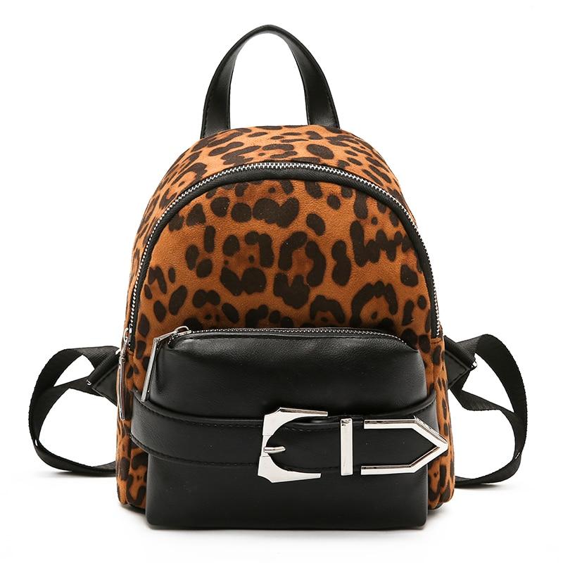 Sacs à dos femme imprimé léopard PU sac à dos en cuir femme solide sacs d'école pour fille sauvage Vintage Mochila Bolsas Mochilas chaud