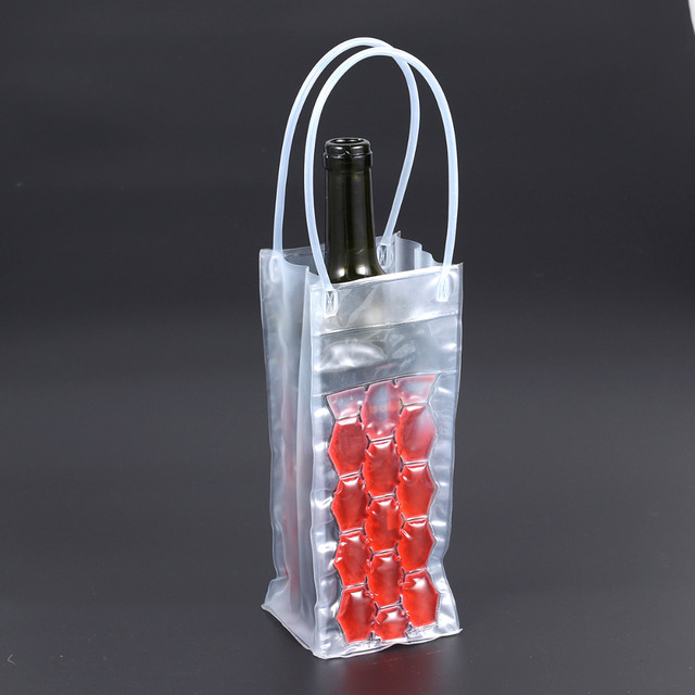2018 New Arrival Wine Bottle Freezer Bag Chilling Cooler Ice Bag Beer Cooling Gel Holder Carrier Portable liquor ice-cold Tools