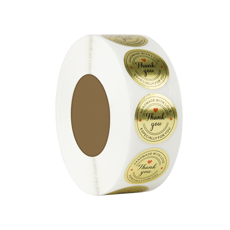 """Купить с кэшбэком Round Gold """"THANK YOU"""" Stickers seal labels 500 Labels stickers scrapbooking for Package stationery handmade sticker with love"""