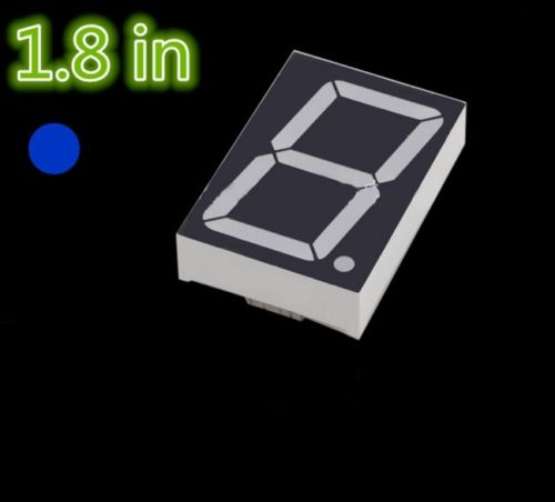 5pcs NEW 1.8 inch 1 digit Blue Led display 7 segment Common cathode 100 pcs ld 3361ag 3 digit 0 36 green 7 segment led display common cathode