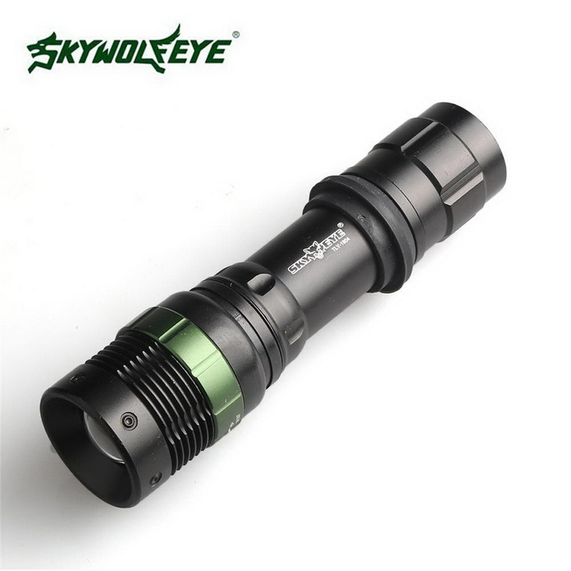 3 Files Zoomable Outdoor Hiking Flashlight Skywolfeye Brand 18650 Tactical Flashlight Q5 LED Torch Bicycle Flashlight VEJ97-in LED Flashlights ...