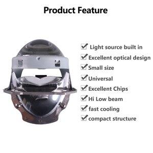 Image 3 - Sanvi 2 adet 70W 5500K araba LED far 3 inç Bi LED projektör Lens far motosiklet araba ışık güçlendirme kiti otomatik LED