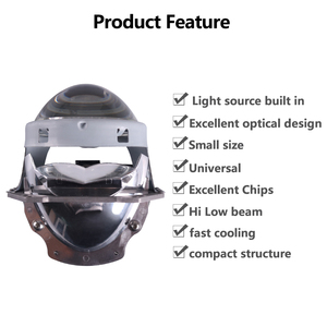 Image 3 - Sanvi phare de voiture à LED, 2 pièces, 70W, 5500K, phare LED, 3 pouces, kit de rénovation, Bi projecteur LED