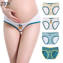 ZTOV 4Pcs/lot Maternity Panties Pregnancy Underwear Belly Support Briefs For Pregnant Women Low Waist UnderPants Panty XXL XXXL(China)