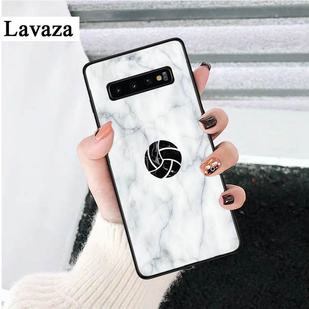 Lavaza I love Volleyball Printing Silicone Case for Samsung S6 Edge S7 S8 Plus S9 S10 S10e Note 8 9 10 M10 M20 M30 M40 in Fitted Cases from Cellphones Telecommunications