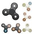 6 Цветов Творческий Керамическая Tri-Spinner Игрушка Непоседа EDC Руки Счетчик Аутизма и СДВГ Детей Взрослых Снять Стресс Игрушки Лучший подарок