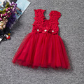 New 2016 Girls Dresses Fashion Casual Summer Lace Princess Dress Kids Girls Party Clothes for Children Vetement Fille F218