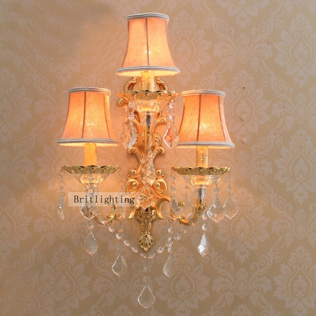 decorative candle wall sconces large brass wall sconce hotel wall lighting with facbric shade led wall