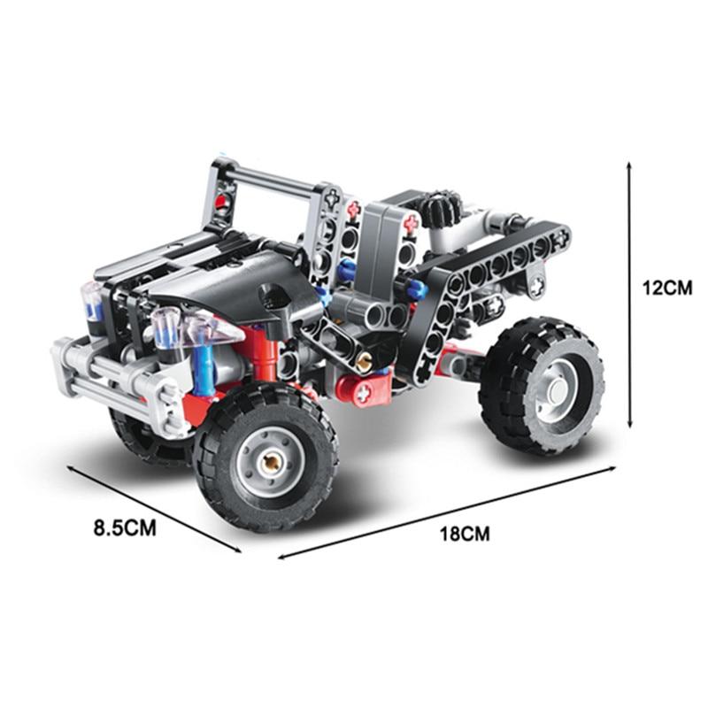 Technic 3342 Building Blocks Transport Jeep Vanguard SUV Racing Car ...