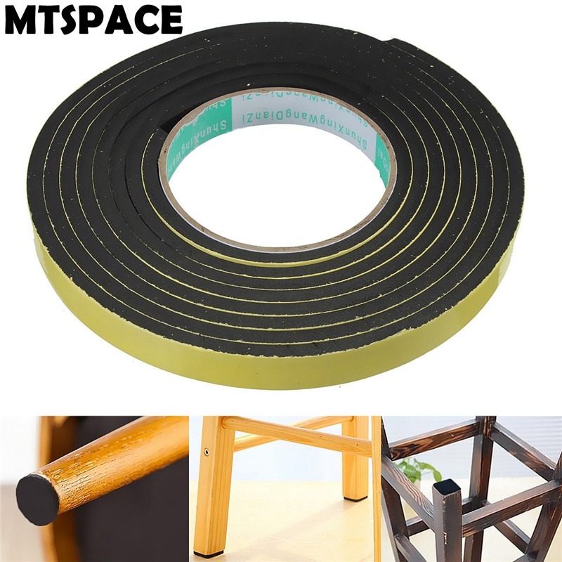 MTSPACE 2 Meters Window Door Foam Adhesive Draught Excluder Strip Sealing Tape Adhesive Tape Rubber Weather Strip E/D/I-type