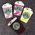 10 unids starbuck taza de café de la historieta 3d silicio del teléfono case para iphone 4 4S 5 5S 6 6 plus teléfono case funda de silicona libre gratis
