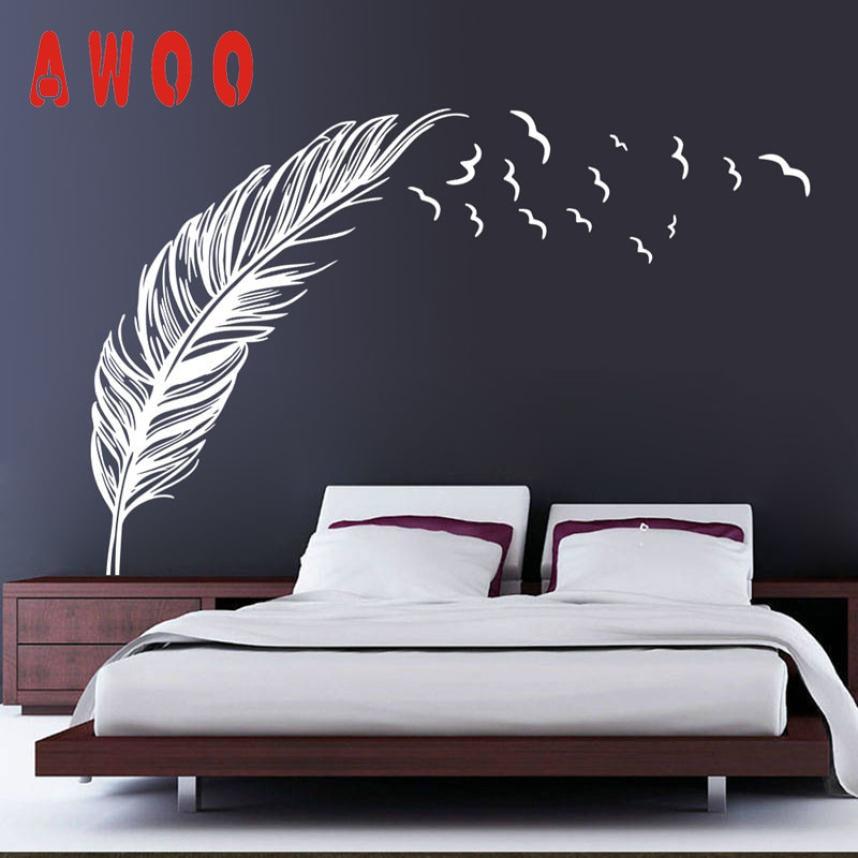Feather Wall Art online get cheap wall art decal feather -aliexpress | alibaba