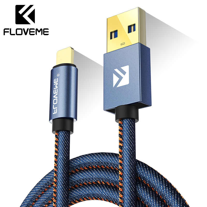 Kabel FLOVEME Type C Untuk Samsung S8 Plus Xiaomi 6 5X Huawei P10 Meizu Pro 7 Leather Fast Charge USB Type-C Data Transfer Cables